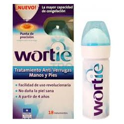 Wortie antiverrugas en manos y pies.