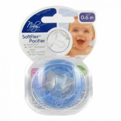 Nuby Natural Touch SoftFlex Chupete cereza 0-6m azul 1 pieza