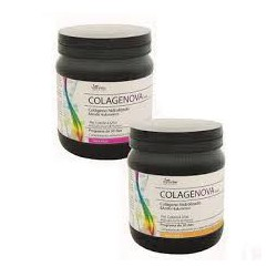 Collagène hydrolysé et l'acide hyaluronique. Colagenova . (arôme vanille )