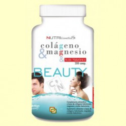 Colágeno con Magnesio y Ácido hialurónico. Beauty.
