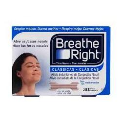 BREATHE RIGHTTiras Nasales Clásicas grandes (30 TIRAS)