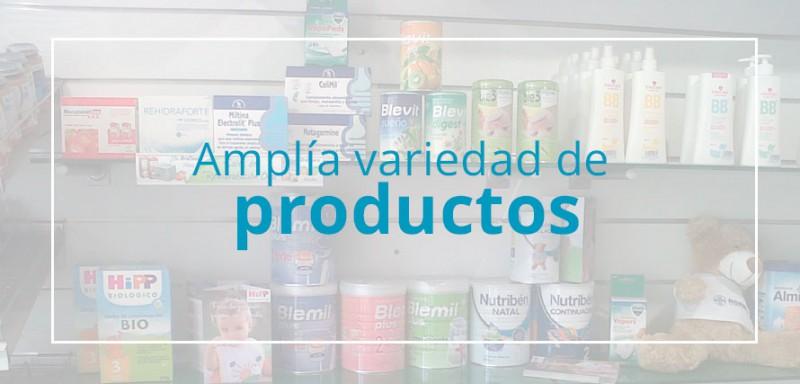 Amplia variedad de productos