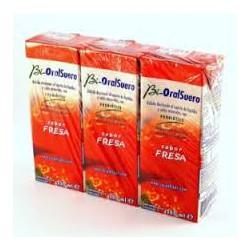 Strawberry Bioralsuero 3x200ml.