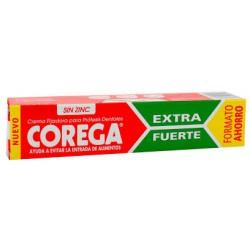 Corega extra strong denture adhesive cream. Corega.