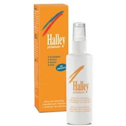 Spray Halley beseitigt Juckreiz Insekten und Pflanzen.