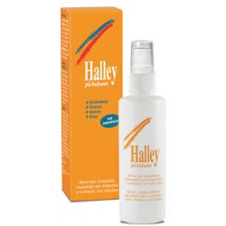 Spray Halley removes itching insects and plants.