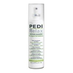Relax Pedi antiperspirant spray.