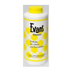 Evans perfumado talco.