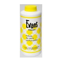 Talco Evans perfumado.