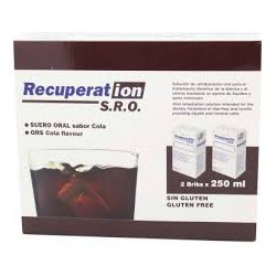 Recuperation Oral Serum SORO sabor cola.