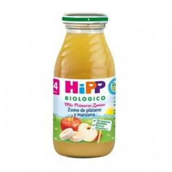 Jus de pomme et de banane biologique 4M HiPP, 200 ml