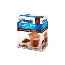 Bimanan Sustitutive Batido de Chocolate, 5 Sobres+1 gratis