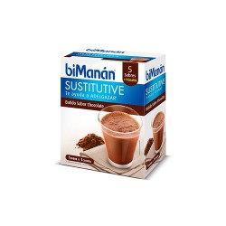Bimanan Sustitutive Chocolate Shake, 5 Envelopes + 1 free