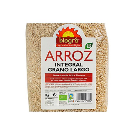 Arroz Integral grano largo biogra 1 Kg