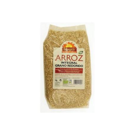 Arroz integral grano redondo 1kg. Biogra