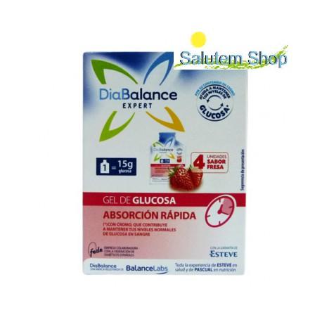 Gel Glucosa Absorcion Rapida 4 sobres. Diabalance Expert