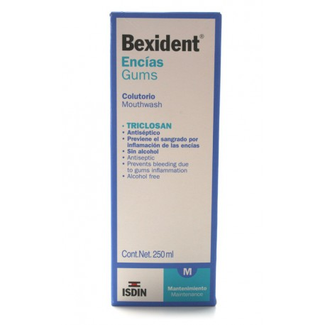 Gums Bexident Triclosan Mouthwash 250ml