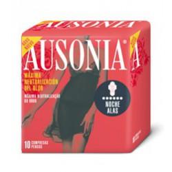Compresses Ausonia nuit avec des ailes.