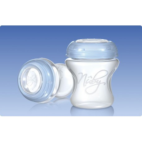Conteneur de stockage Natural Touch lait maternel. Nuby.