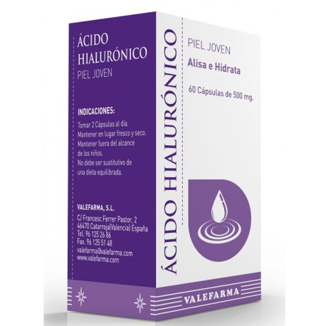 Ácido Hialurónico + Colágeno. Valefarma.