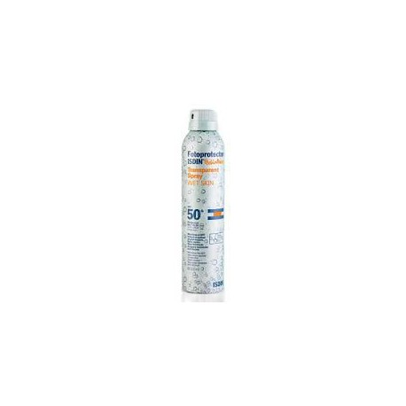 Transparent Spray Sunscreen WET SKIN 50 +. Isdin.