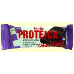 Barrita proteica de chocolate. NutriSport.