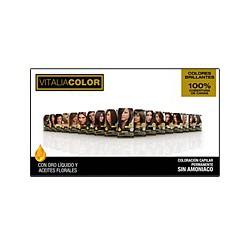 Permanente colorazione dei capelli senza ammoniaca. Vitalia colori, Th Pharma.