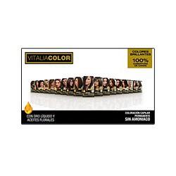 Permanent Hair coloring without ammonia. Vitalia Pharma Color Th.