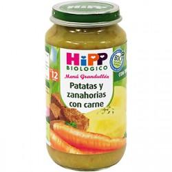 Hipp Potito Biológico. Patata y zanahoria con carne. Menú Grandullón +12meses.