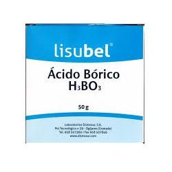 Acido Bórico en polvo. Lisubel.