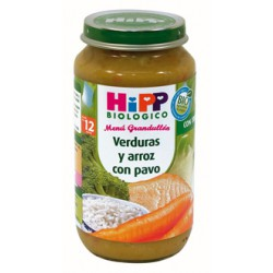 Biological Hipp Potito. Verdure e riso con la Turchia. Menu + 12 mesi.