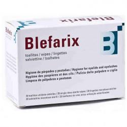 Blefarix lingettes d'hygiène périoculaires.