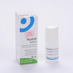 Solution de lubrifiant oculaire Hyabak.
