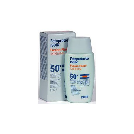 Fotoprotector Fusion Fluid Mineral SPF 50+. Isdin.