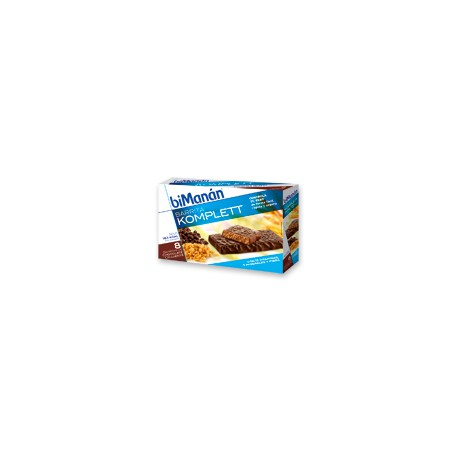 BIMANANSustitutive Barritas de Chocolate Crujiente Komplett (8uds)